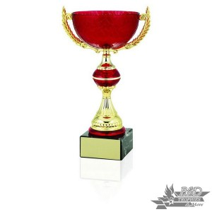 Red and Gold Glass Cup Trophy