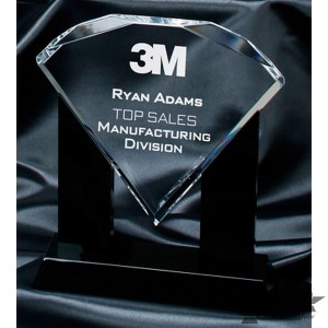Diamond Acrylic Award (includes white gift box)