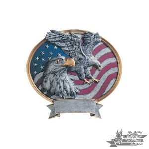 Eagle USA Small Pewter Resin Plaque Trophy