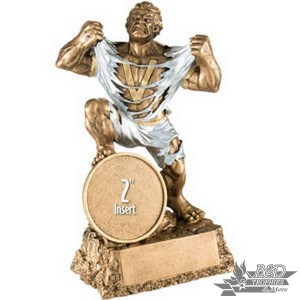 "Victory Monster Trophy with 2"" Insert, Male"