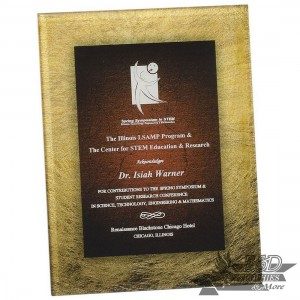 Gold and Sienna Acrylic Art Plaque