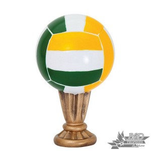 Volleyball - Colored Sport Ball Resin Trophy