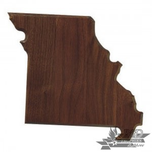 Solid Walnut State Shape Plaque - All States Available