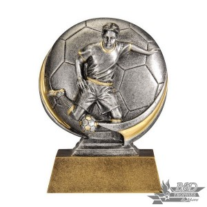 Soccer Motion Xtreme Round Trophy