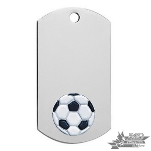 Soccer Chrome Dog Tag