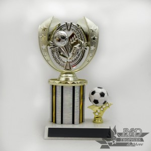 AYSO 3x5 - Column 3 (Silver/Gold Figure) Trophy (Limited Quantity - ONLY 3 LEFT)