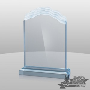 Wave-Top Acrylic Award