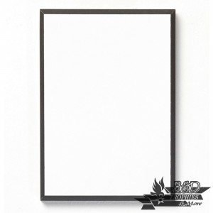 White with Black Trim Standard Plaque (Decoration)