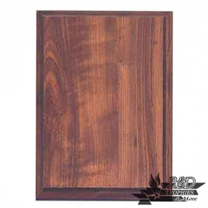 Walnut Finish Standard Plaque