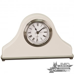Mantel Desk Clock - White Piano Finish