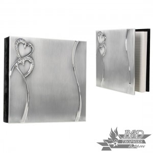 """Hearts"" 8x8 40-page Guest Book"