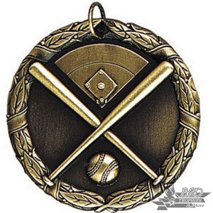 "Baseball - Diamond and Bats 2"" XR Medal"