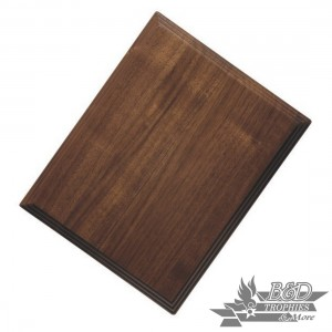Triple-Edge Solid Walnut Plaque