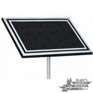 Cast Aluminum (Black) Outdoor Plaque with Stake