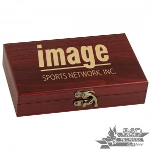 Rosewood Finish Card & Deck Set (includes 2 decks of cards & 5 Dice)