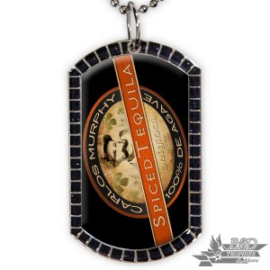 Glitter Dog Tag with White Sublimation Disc