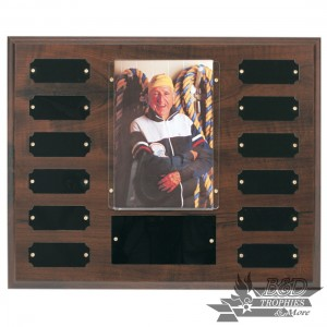 10.5x13 Perpetual Photo Plaque with 4x6 photo & 12 Plates
