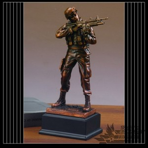 Bronzed Army Sculpture