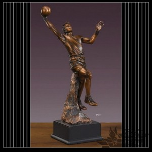 Bronzed Basketball Sculpture