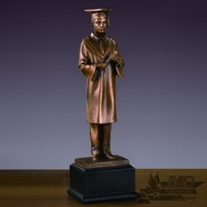 Bronzed Male Graduate Sculpture