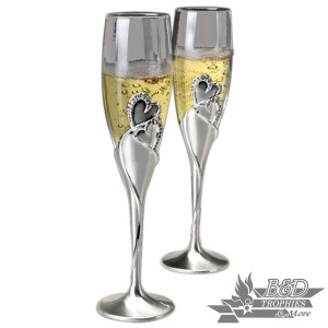 """Hearts"" Toasting Flute (2 glass set)"