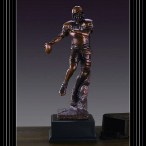 Bronzed Football Sculpture