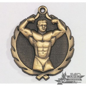 Body Builder Wreath Medal
