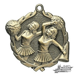 Cheerleading Wreath Medal