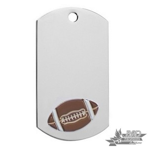 Football Chrome Dog Tag