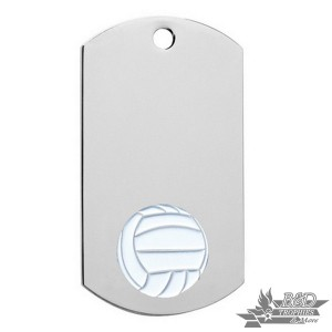 Volleyball Chrome Dog Tag