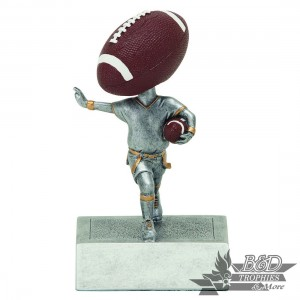 Flag Football Bobblehead Trophy