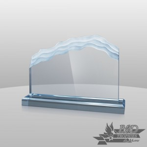 Wave-Length (Horizontal) Acrylic Award
