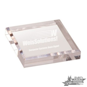 Paperweight Clear Acrylic Award