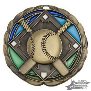 Baseball Stained Glass Medal