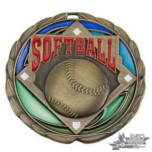 Softball Stained Glass Medal