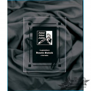 Solid Black Acrylic Clear Plaque