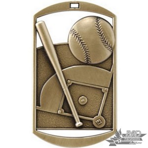 Baseball Dog Tag Medal