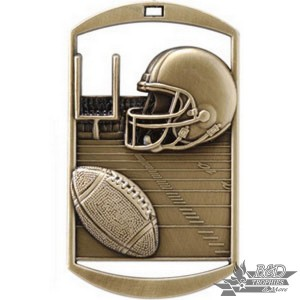 Football Dog Tag Medal