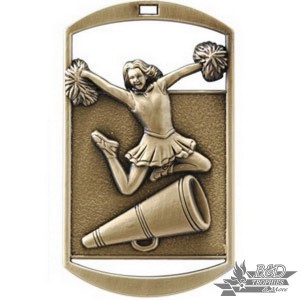 Cheer/Megaphone Dog Tag Medal