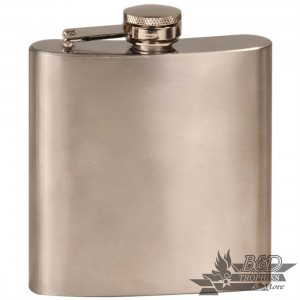 Laserable Stainless Steel Flasks - 6 oz.