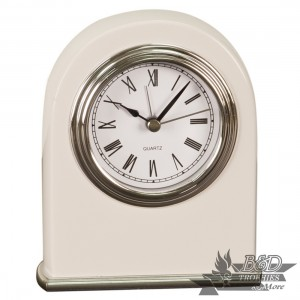 Arch Desk Clock - White Piano Finish