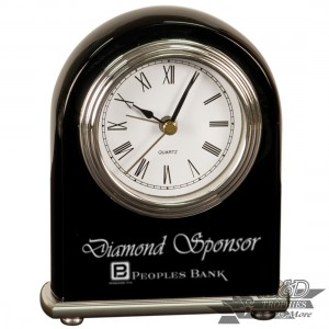 Arch Desk Clock - Black Piano Finish