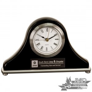 Mantel Desk Clock - Black Piano Finish