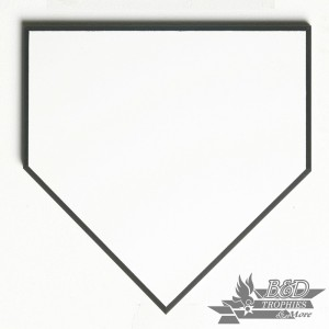 Home Plate White with Black Trim Signature Plaque