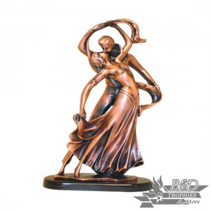 Bronzed Dance Sculpture