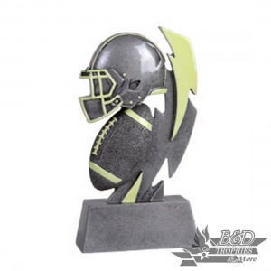 Football Glow in the Dark Resin Trophy