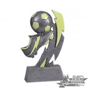 Soccer Glow in the Dark Resin Trophy