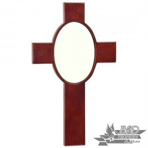 Rosewood Piano Finish Cross with Ceramic Tile
