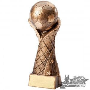Soccer Ball on Net Resin Trophy
