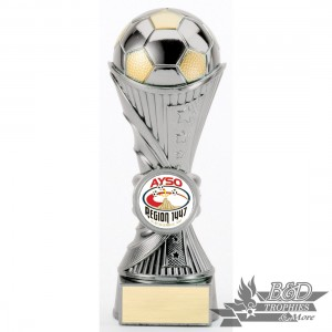 AYSO Soccer Silver Sculpture